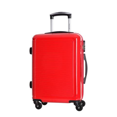 Travel One Red 4 Wheeled Maryhill Suitcase M