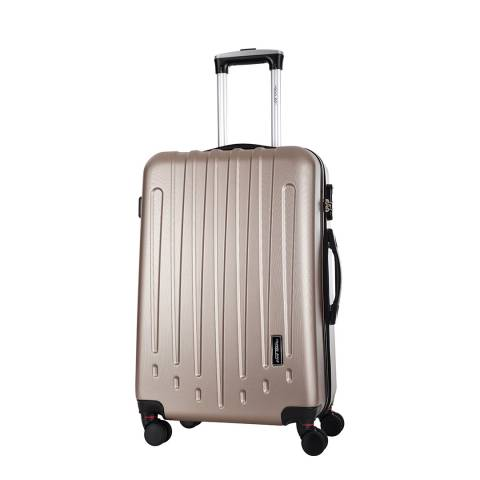 Travel One Beige Haryana 8 Wheeled Suitcase 60cm