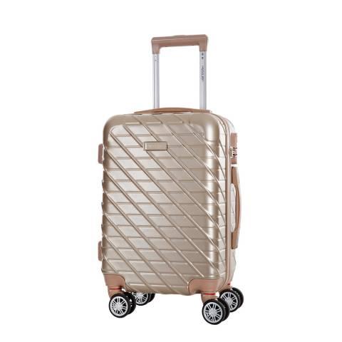Travel One Beige Leiria 8 Wheeled Suitcase 56cm