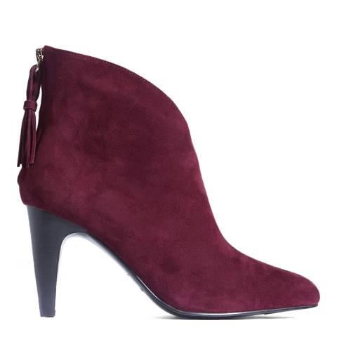 Karen Millen Red Tassel Suede Ankle Boots