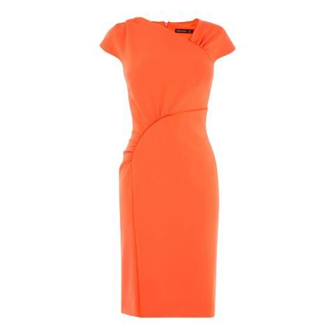 Karen Millen Orange Piped Frill Dress