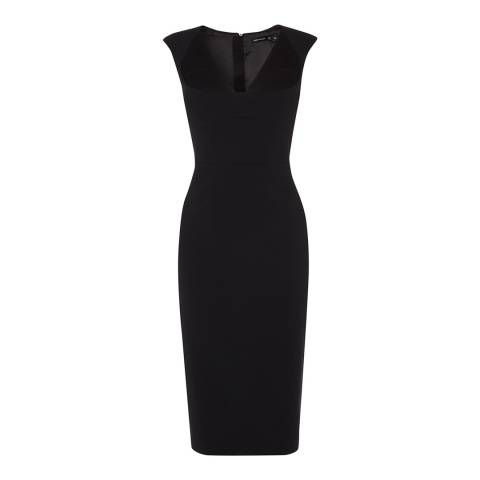 Karen Millen Black Tailored Contour Bodycon Dress