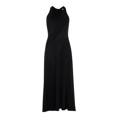 Karen Millen Black Panelled Contour Maxi Dress
