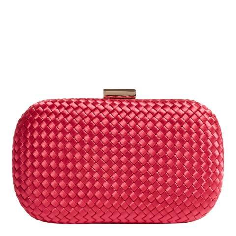 Karen Millen Pink Plaited Box Clutch
