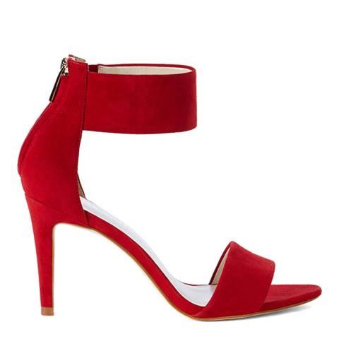 Karen Millen Red Suede Ankle Cuff Sandal