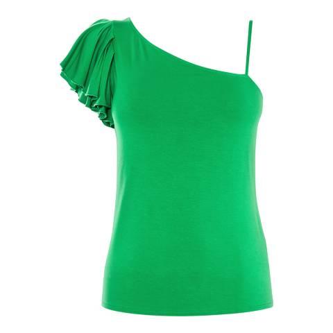 Karen Millen Green One Shoulder Top