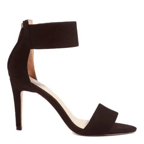 Karen Millen Black Suede Ankle Cuff Sandal