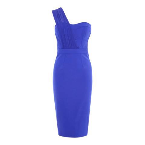 Karen Millen Blue Strapless Pencil Dress