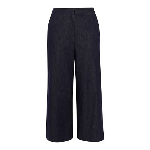 Karen Millen Denim Wide-Leg Trousers
