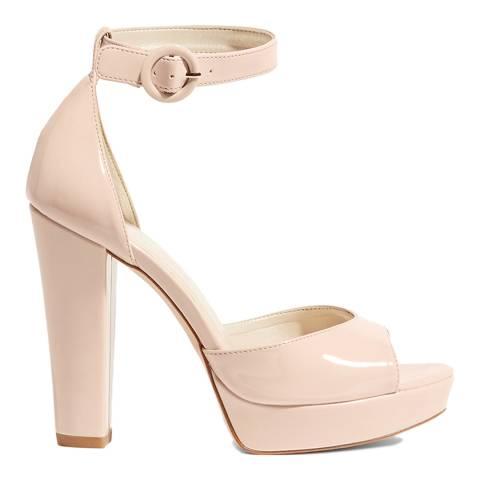Karen Millen Nude Platform Patent Sandals