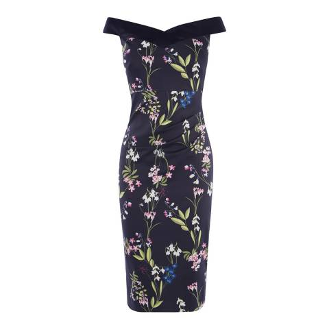 Karen Millen Botanical Bardot Dress