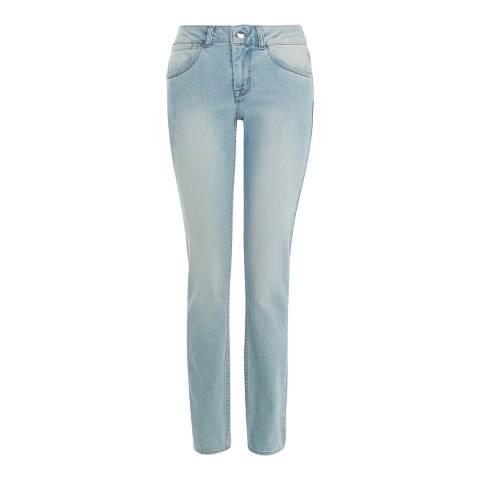 Karen Millen Pale Denim Bleach Wash Jeans