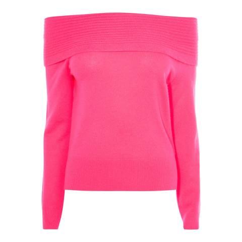 Karen Millen Pink Cashmere Bardot Jumper