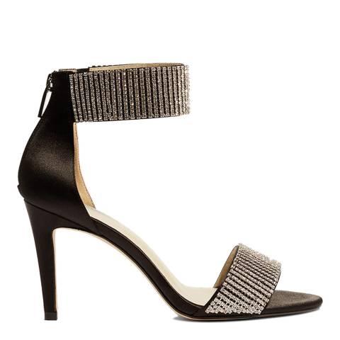Karen Millen Black Gem Embellished Sandals