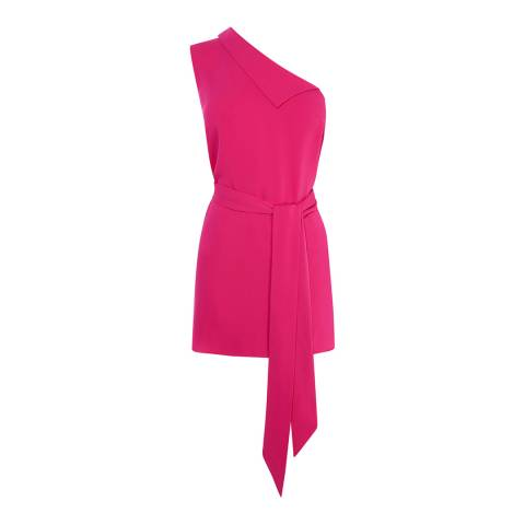 Karen Millen Pink One Shoulder Top