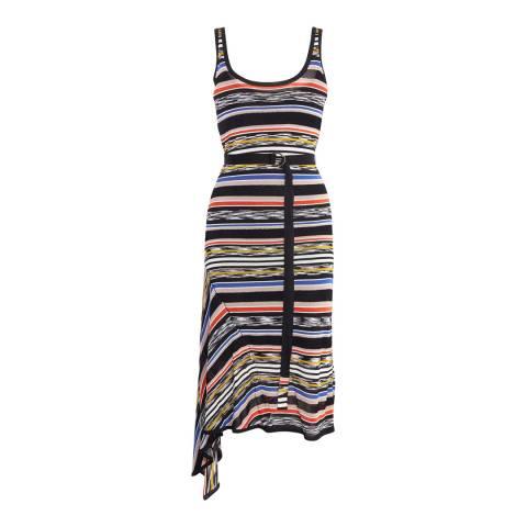 Karen Millen Multi Stripe Drape Dress