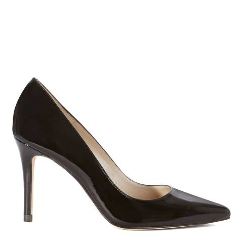 Karen Millen Black Patent Court Shoe
