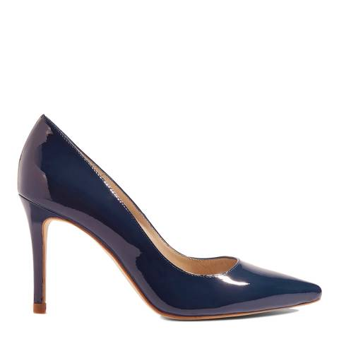 Karen Millen Blue Patent Court Shoe