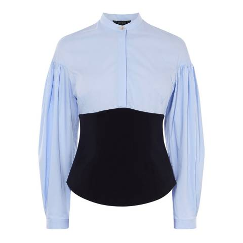 Karen Millen Blue Layered Corset Shirt