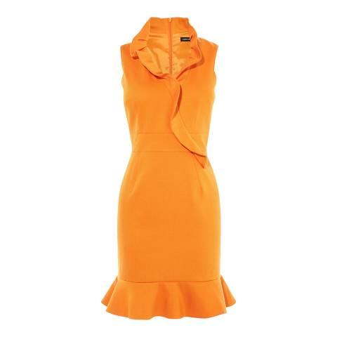 Karen Millen Orange Ruffle Dress