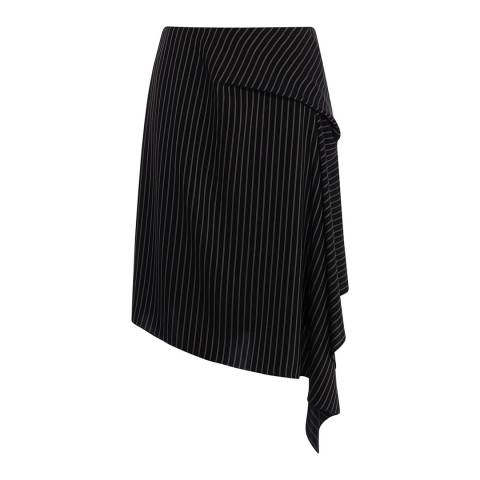 Karen Millen Black Stripe Draped Skirt