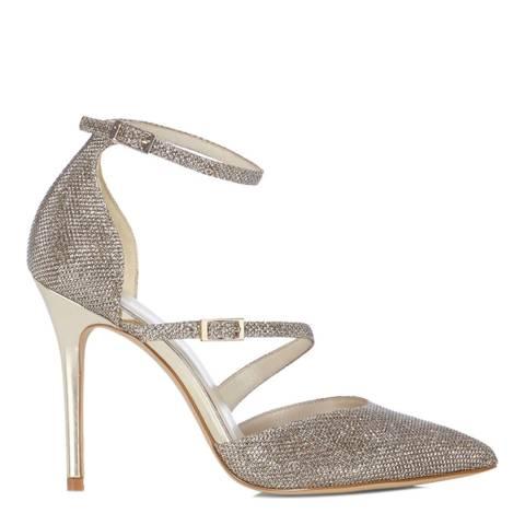 Karen Millen Gold Glitter Detail Heel
