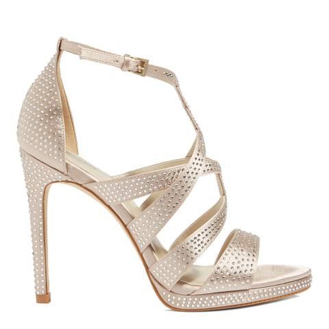 Karen Millen Neutral Embellished Strappy Sandal