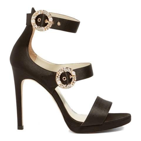 Karen Millen Black Pearl Buckle Sandal
