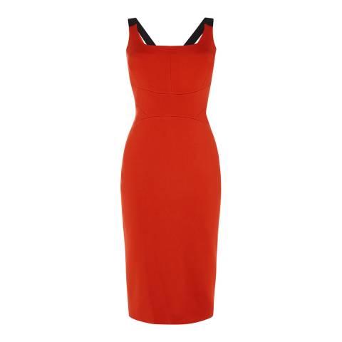 Karen Millen Orange Midi Length Dress