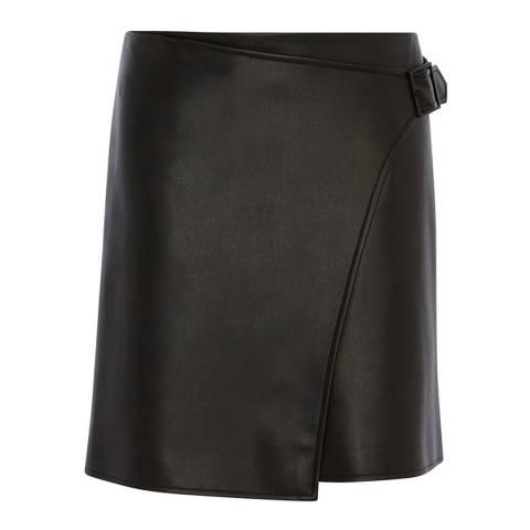 Karen Millen Black Faux Leather Skirt