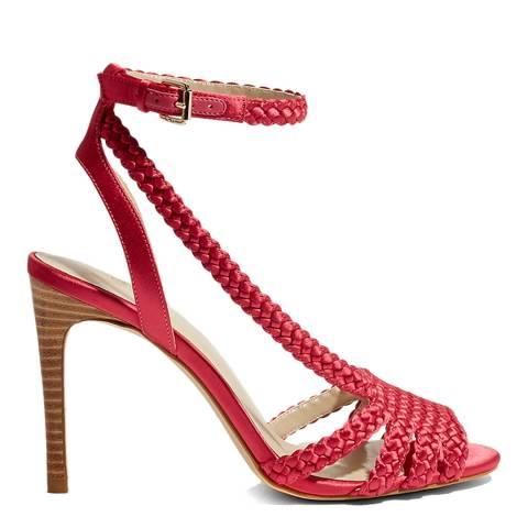Karen Millen Pink Plaited High Sandal Heel