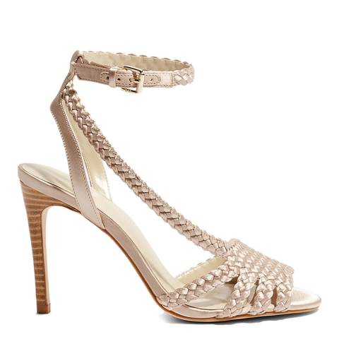 Karen Millen Nude Plaited High Sandal Heel