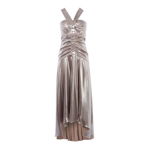 Karen Millen Gold Metallic Fishtail Dress