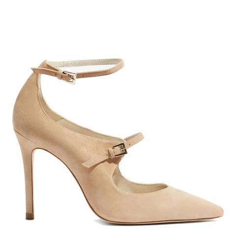 Karen Millen Nude Double Strap Mary Heels