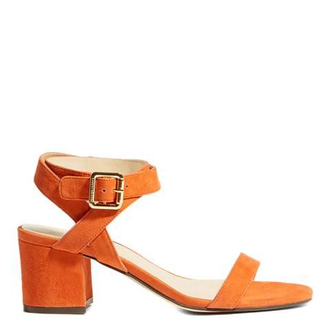 Karen Millen Orange Suede Strappy Sandals