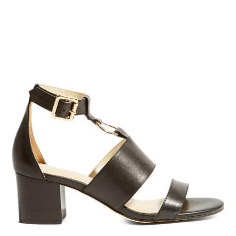 Karen Millen Black D Ring Leather Sandals