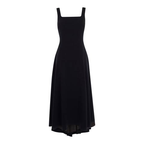 Karen Millen Black Strappy Back Fluid Dress