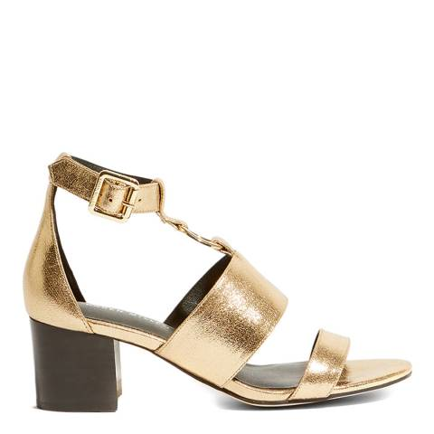Karen Millen Gold D Ring Leather Sandals