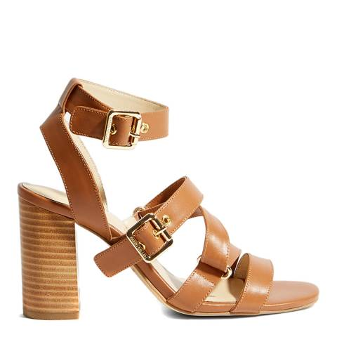 Karen Millen Tan Strappy Day Leather Sandals