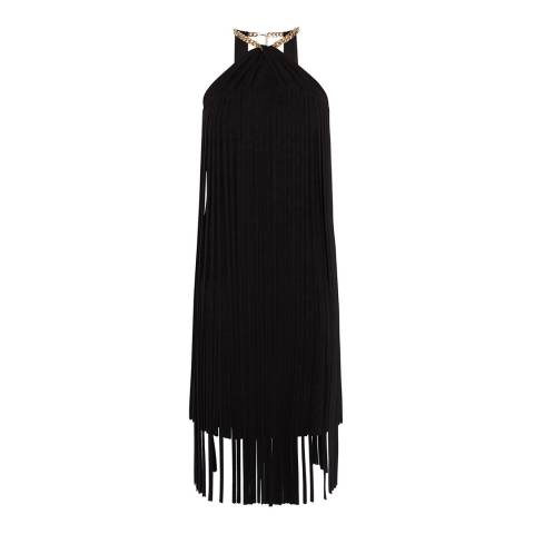 Karen Millen Black Rouleaux Fringe Dress