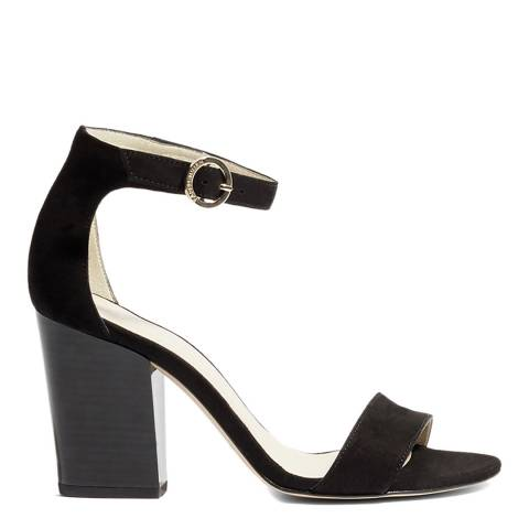 Karen Millen Black Suede Strappy Block Sandals