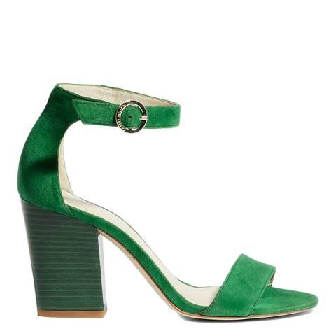 Karen Millen Black Suede Strappy Block Sandals