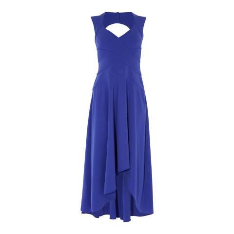 Karen Millen Blue Fuild Wrap Dress