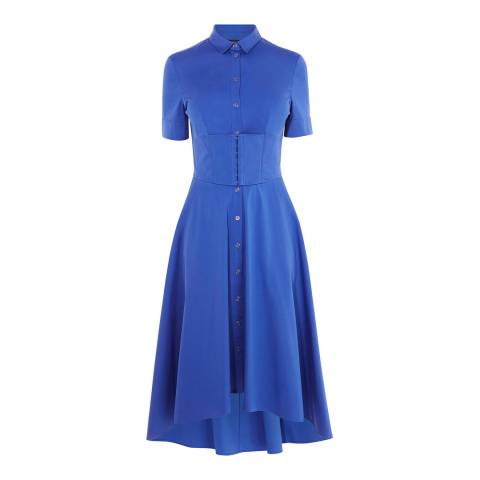 Karen Millen Blue Corset Shirt Dress