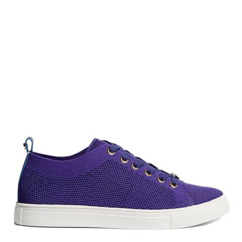 Karen Millen Purple Knitted Trainers