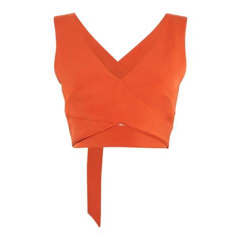 Karen Millen Orange Wrapped Crop Top