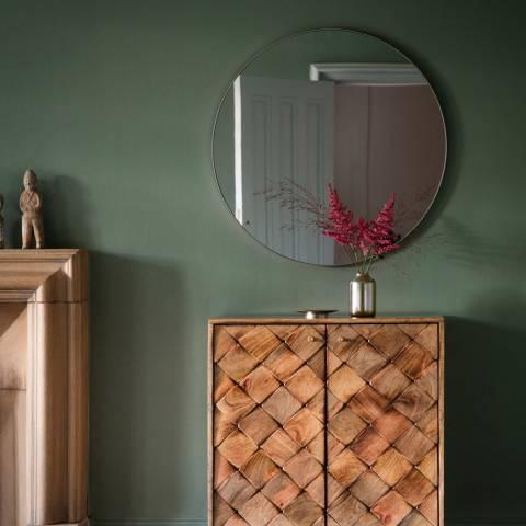 Gallery Silver Bowie Round Mirror 80x80cm