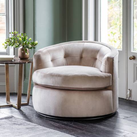Gallery Mayfair Swivel Armchair, Nature