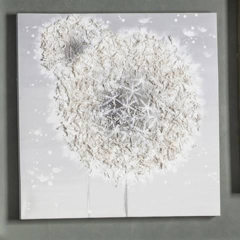 Gallery Dandelion Breeze Textured Art Canvas 100x100cm