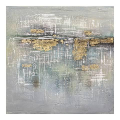 Gallery Mercury Horizon Textured Art Canvas 100x100cm